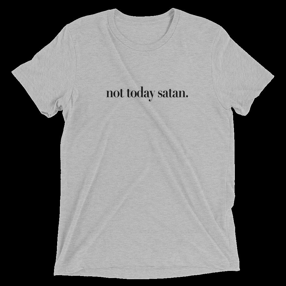 """""""not today satan."""" tee - mattie james shop"""